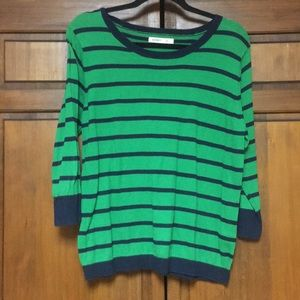 Green & Navy Stripe Sweater